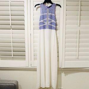 New W/ Tags Boohoo Petite Length lilac/white maxi